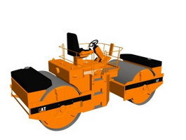 Tandem road roller 3d model
