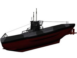 Type 7b submarine 3d model