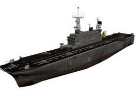 Tarawa-class amphibious assault ship 3d model