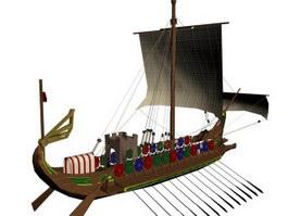 Roman ship 3d model