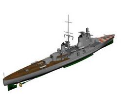Italian cruiser Pola 3d model