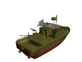 River Patrol Boat 3d model