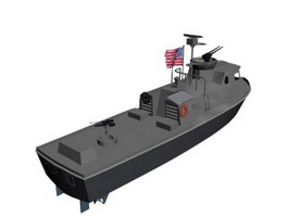 United States Coast Guard Response Boat 3d model
