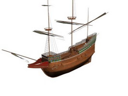 Mayflower Dutch cargo fluyt 3d model