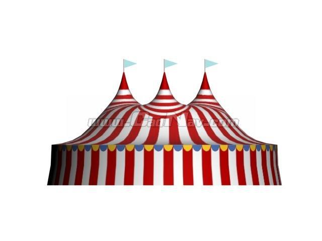Circus Tent 3d model  sc 1 st  CadNav & Circus Tent 3d model 3Ds Max3ds files free download - modeling ...