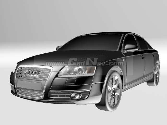 audi a6 car 3d model 3ds max 3ds files free download modeling 2019 on cadnav. Black Bedroom Furniture Sets. Home Design Ideas