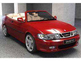Saab convertible 3d model