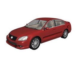 Nissan Altima mid-size car 3d model