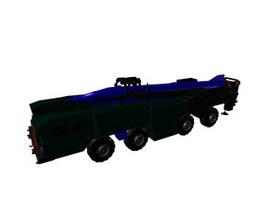 Missile transporter vehicle 3d model