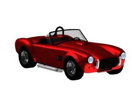 Sports car Convertible 3d model