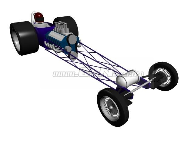 Mad F1 racing bicycle 3d rendering