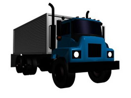 Large container truck 3d model