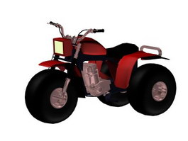 Three-wheeler ATV motocross bike 3d model