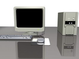 Computer system 3d model