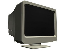 Computer CRT monitor 3d model