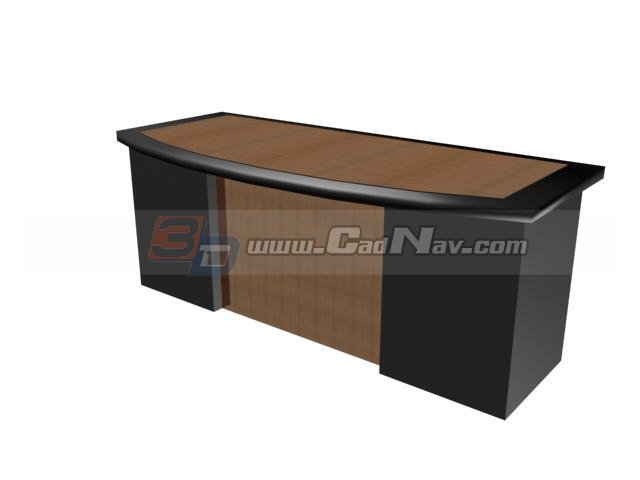 Wooden General Manager Desk 3d Model 3ds Max Files Free