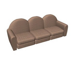 Long armchair sofa 3d model
