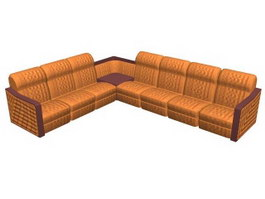 Conner combination sofa group 3d model