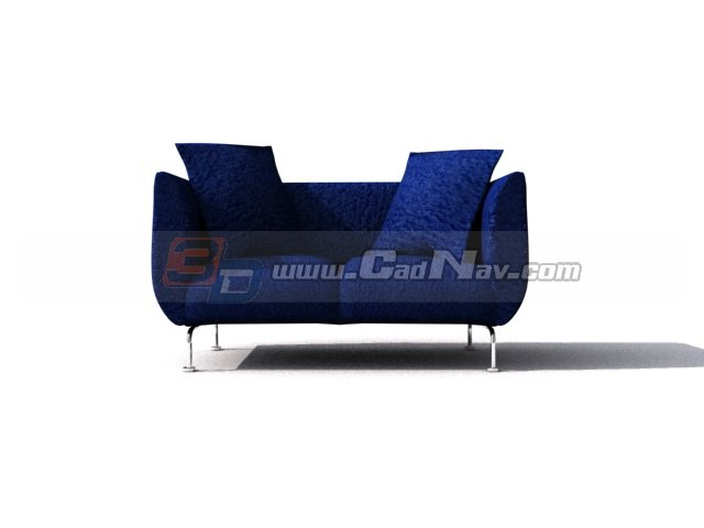Musterring 2 seater fabric sofa bed 3d model 3ds max files for Musterring sofa