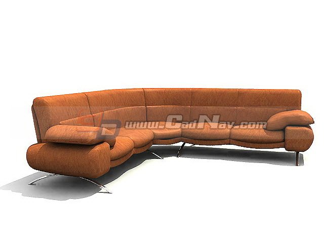 Musterring luxurious leather sofa 3d model 3ds max files for Musterring sofa