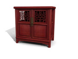 Antique kitchen sideboard 3d model