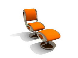 Lounge Chair and Ottoman 3d model