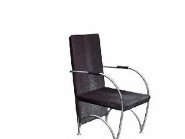 Stainless Steel Armchair 3d model