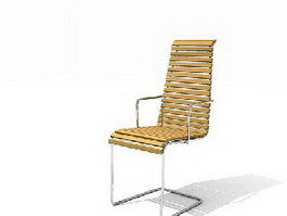 Garden Bamboo Lounge Chair 3d model