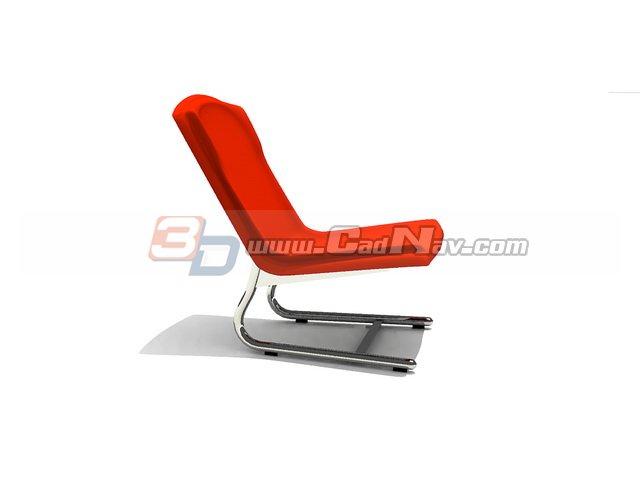 Plastic Lounge Chair 3d Model 3dmax 3ds Files Free