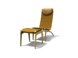 Bamboo Outdoor Lounge Chair 3d model
