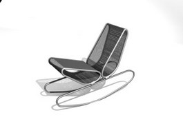 Metal Wire Lounge Chair 3d model