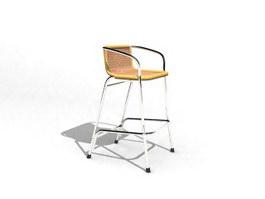 Stool Armchair 3d model