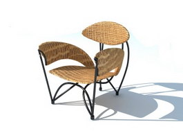 Rattan Lounge Chair 3d model