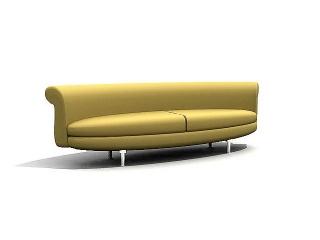 Hotel lobby sofa 3d model
