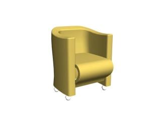 Hotel Room sofa chair 3d model