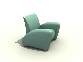 Floor sofa armchair 3d model