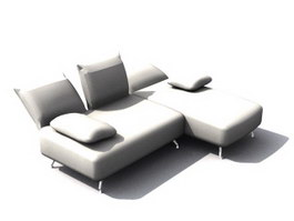 Day bed settee 3d model