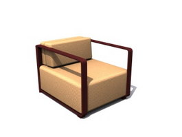 Cushion armchair 3d model