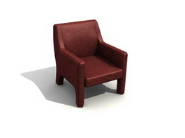 Hotel cushion armchair 3d model