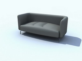 Parlour chesterfield sofa 3d model