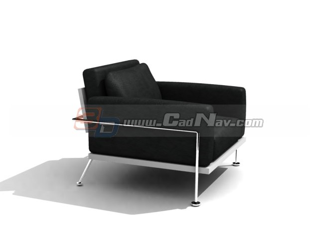 Lounge Single Sofa Chair 3d Model 3dmax 3ds Files Free