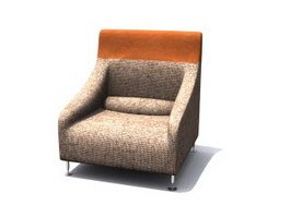 Fabric Single Sofa 3d model