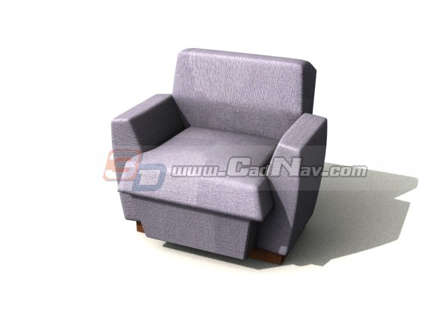 Single sofa cum bed 3d model 3dmax 3ds files free download for Sofa bed 3d model