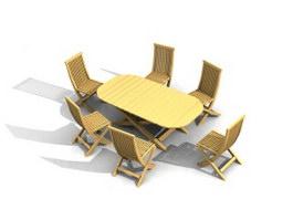 Garden Restaurant Sets 3d model