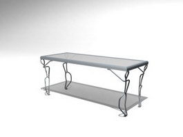 Iron coffee table 3d model