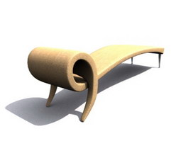 Chaise Lounge day bed 3d model