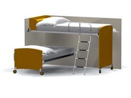 School Bunk bed 3d model