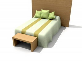 Children Soft Bed 3d model