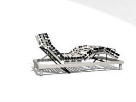 Modern Chaise Lounge 3d model