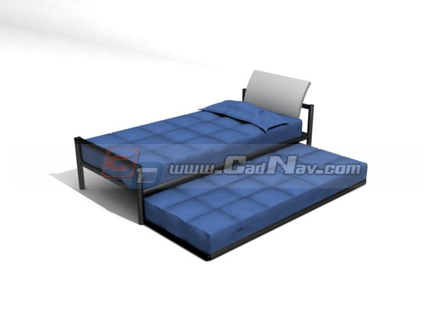 Single sofa bed 3d model 3dmax 3ds files free download for Sofa bed 3d model